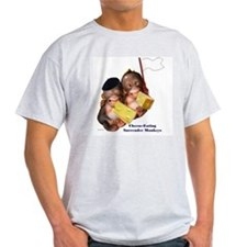 Cheese Eating Surrender Monkeys I Ash Grey T-Shirt