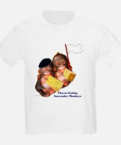 Cheese Eating Surrender Monkeys I Kids T-Shirt