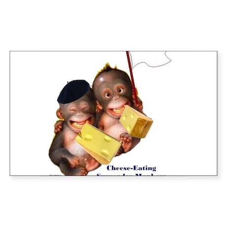 Cheese Eating Surrender Monkeys I Sticker (Rectang