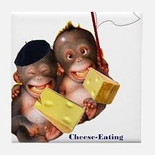 Cheese Eating Surrender Monkeys I Tile Coaster