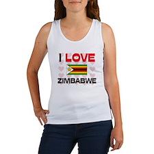 I Love Zimbabwe Women's Tank Top