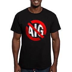 Anti-AIG Black T-Shirt. No Bonus Bailouts!