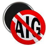 Red Slash Through AIG Fridge Magnet