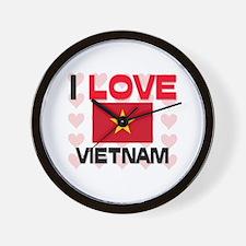 I Love Vietnam Wall Clock