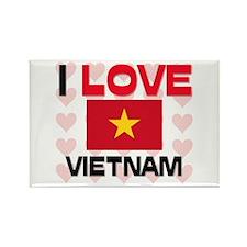 I Love Vietnam Rectangle Magnet