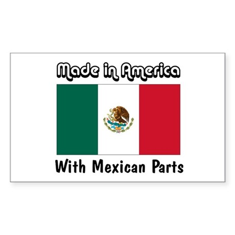 Mexican Parts Rectangle Sticker