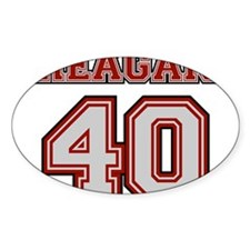 Reagan #40 Oval Decal