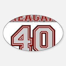 Reagan #40 Oval Decal