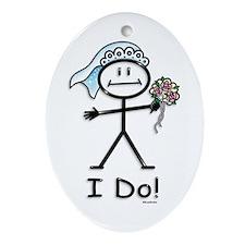 BusyBodies Wedding Bride Oval Ornament