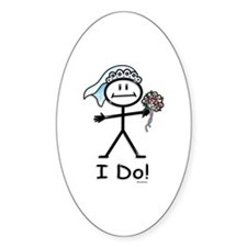 BusyBodies Wedding Bride Oval Decal