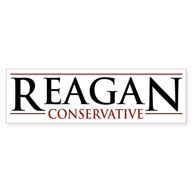 reagan conservative bumper bumper sticker by elephantusa With kitchen colors with white cabinets with conservative bumper stickers