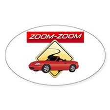Miata MX-5 Oval Bumper Stickers
