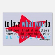 Love What You Do Quotation Products Postcards (Pac