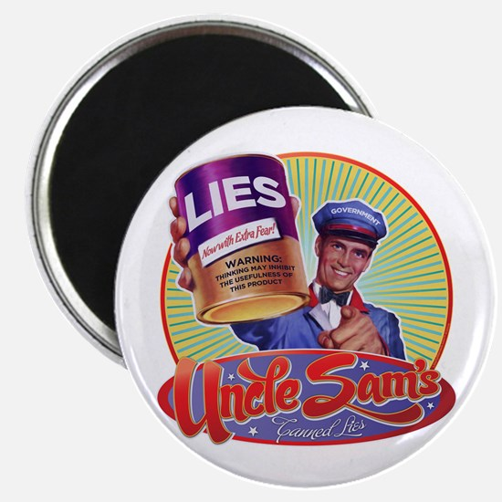 Uncle Sam's Canned Lies Magnet