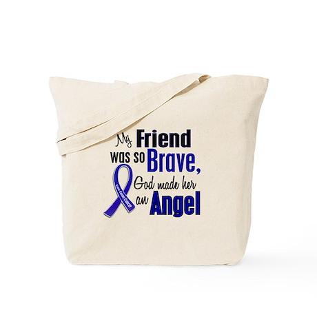Angel 1 FRIEND (She) Colon Cancer Tote Bag