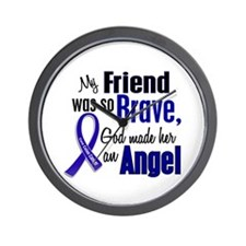 Angel 1 FRIEND (She) Colon Cancer Wall Clock
