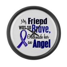 Angel 1 FRIEND (She) Colon Cancer Large Wall Clock