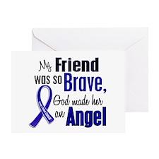 Angel 1 FRIEND (She) Colon Cancer Greeting Card