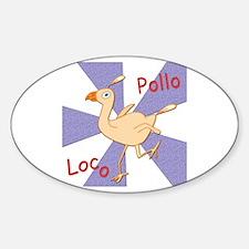 Pollo Loco Oval Decal