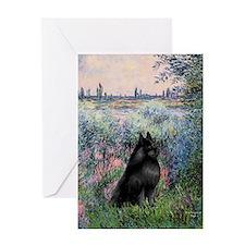 Seine / Schipperke Greeting Card