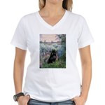 Seine / Schipperke Women's V-Neck T-Shirt