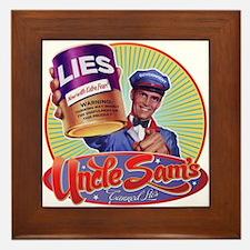 Uncle Sam's Canned Lies Framed Tile