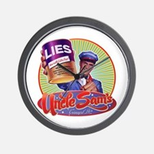 Uncle Sam's Canned Lies Wall Clock