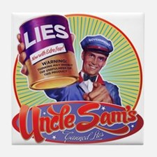 Uncle Sam's Canned Lies Tile Coaster