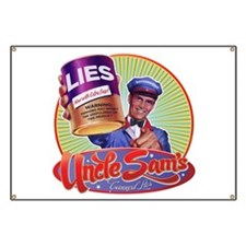 Uncle Sam's Canned Lies Banner