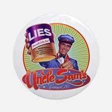Uncle Sam's Canned Lies Ornament (Round)