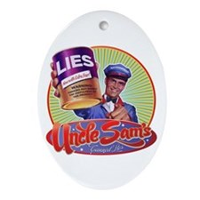 Uncle Sam's Canned Lies Oval Ornament