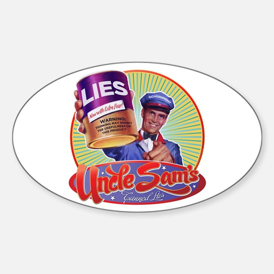 Uncle Sam's Canned Lies Oval Decal