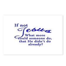 If not Jesus Postcards (Package of 8)
