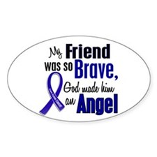 Angel 1 FRIEND (He) Colon Cancer Oval Decal