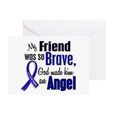 Angel 1 FRIEND (He) Colon Cancer Greeting Card