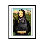 Mona / Schipperke Framed Panel Print