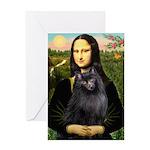Mona / Schipperke Greeting Card
