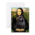 Mona / Schipperke Greeting Cards (Pk of 10)