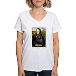 Mona / Schipperke Women's V-Neck T-Shirt