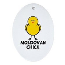 Moldovan Chick Oval Ornament