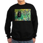 Irises / Schipperke #2 Sweatshirt (dark)