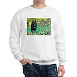 Irises / Schipperke #2 Sweatshirt