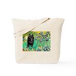 Irises / Schipperke #2 Tote Bag