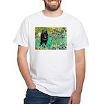 Irises / Schipperke #2 White T-Shirt
