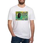 Irises / Schipperke #2 Fitted T-Shirt