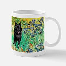 Irises / Schipperke #2 Mug