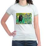 Irises / Schipperke #2 Jr. Ringer T-Shirt