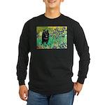 Irises / Schipperke #2 Long Sleeve Dark T-Shirt