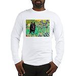 Irises / Schipperke #2 Long Sleeve T-Shirt