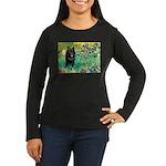 Irises / Schipperke #2 Women's Long Sleeve Dark T-